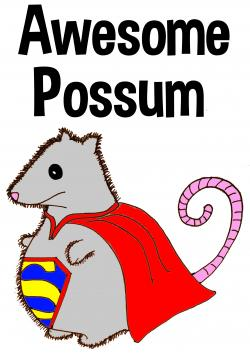 Possum clipart awesome