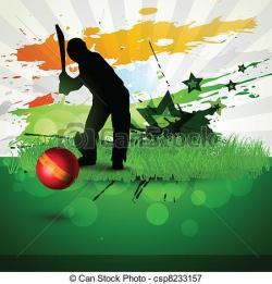 Cricket clipart background image