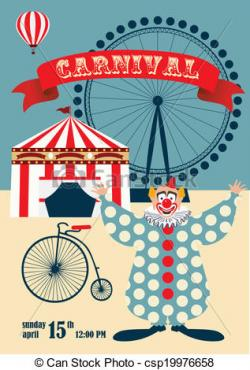 Poster clipart carnival