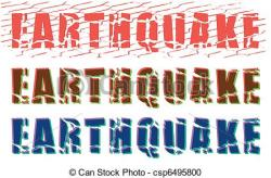 Earthquake clipart logo