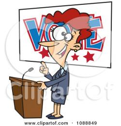 Supporters clipart politician speech