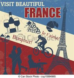 Poster clipart france travel