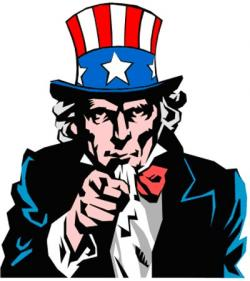 Uncle Sam clipart poster