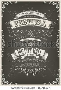 Poster clipart invitation