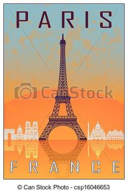 Poster clipart paris france