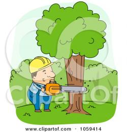 Chainsaw clipart tree cut down