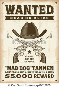 Poster clipart western