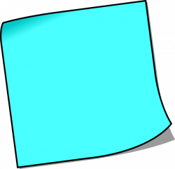 Post-it clipart blank