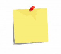 Post-it clipart blank tag