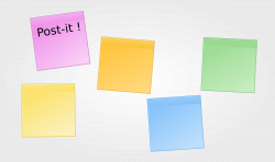 Post-it clipart colored papers