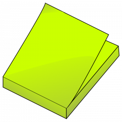 Post-it clipart memo pad