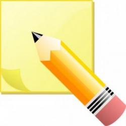 Pencil clipart reminder