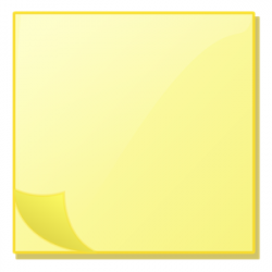 Post-it clipart yellow notepad