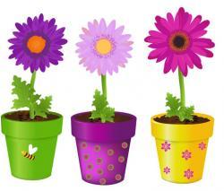 Flowerpots clipart pretty flower