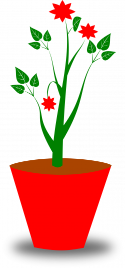 Flowerpots clipart flower vase