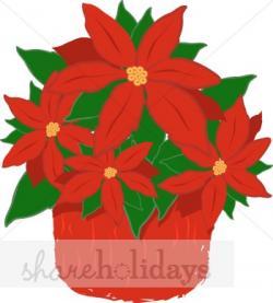 Poinsettia clipart christmas flower