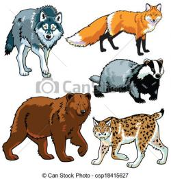 Mammal clipart forest wildlife