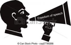 Political clipart freedom speech