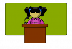 Speakers clipart public speaking