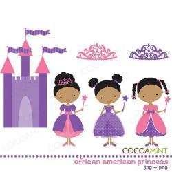 Princess clipart african american