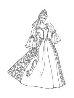 Barbie clipart black and white