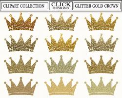 Crown clipart glitter