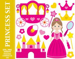 Princess clipart magic stick