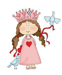 Princess clipart valentine