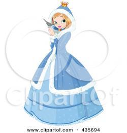 Princess clipart winter