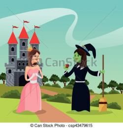 Princess clipart witch