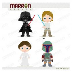 Luke Skywalker clipart cute