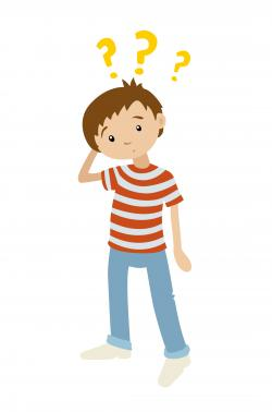Unusual clipart boy confused