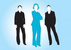 Business clipart male and female