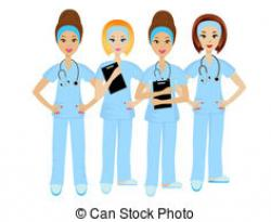 Professional clipart group doctor