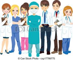 Professional clipart hospital staff