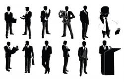 Professional clipart silhouette