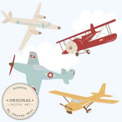 Aviation clipart biplane