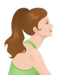 Ponytail clipart profile