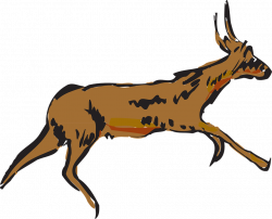 Pronghorn Antelope clipart animated