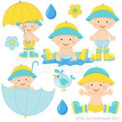 Umbrella clipart baby boy shower
