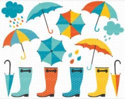 Umbrella clipart april shower
