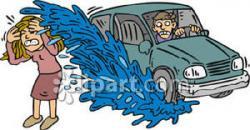 Puddle clipart car