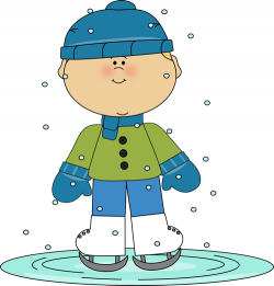 Child clipart ice skating