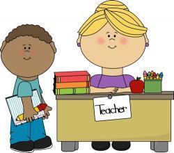 Blonde clipart happy teacher