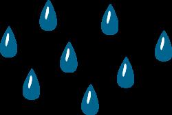 Waterdrop clipart rain droplet