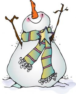 Snowman clipart traditional