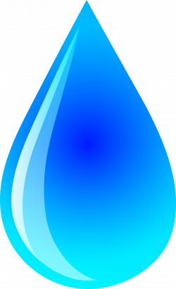 Drawn waterdrop blue water