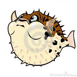 Pufferfish clipart large fish