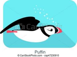 Puffin clipart iceland