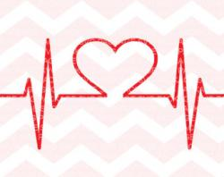Pulse clipart heart rhythm